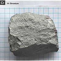 Enchufe de metal cromado de 25 g y 99,85% – Elemento 24 muestra – Envío gratuito