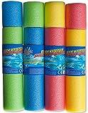 Kinder Poolkanone / Wasserspritze 15 cm / Ø 4 cm, Wasserkanone / Wasser Spritzkanone mit 9 m Reichweite, 12 Stück