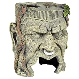 Pet Ting Ancient Face Statue acquatiche Ornamento – Decorazione Acquario – Vivarium Decorazione