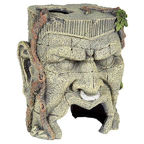 Pet Ting Antike Face Statue Aquatic–Aquarium Dekoration Ornament–Vivarium Dekoration