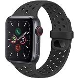CTZL Correa Compatible con Apple Watch 44mm 42mm 40mm 38mm, Pulseras de Repuesto de Silicona Suave para iWatch Series SE 6 5