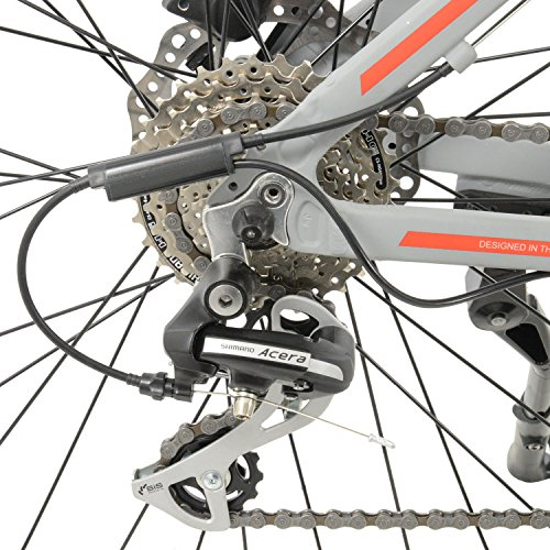 "61teYX1Fg2L. SS500  - Surge Mens 27.5"" Wheel Mid Drive Electric Mountain Bike, 8 Speed shimano Acera Gears"