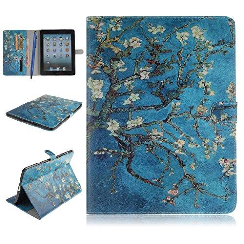 iPad 2/3/4 Funda,Careynoce Atrapasueños León Tigre Pattern Flip PU Cuero Carcasas Funda Case Cover para Apple iPad 2 iPad 3 iPad 4 (9.7 pulgada) - Albaricoque