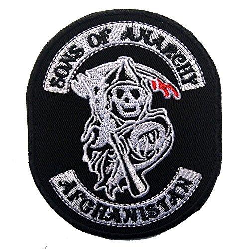 chy Halloween Stickerei die taktische militärische Patches Abzeichen für Kleidung Kleidung HOOK/LOOP ()