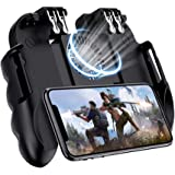 Mobile Game Controller For PUBG, [6 Finger/Upgrade Version ] Goglor Android & Iphone L1R1 Aim And Shoot Triggers Joystick Gam