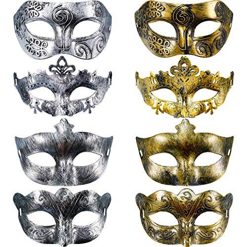 Rote Lange Nase Venezianische Maske - Hestya 8 Stück Vintage Antiquität Masken