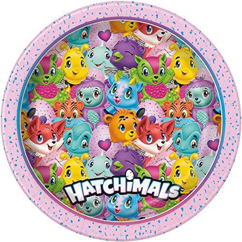 Unique Party 59305 hatchimals paper plate, 23 cm