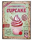 zeitzone Nostalgie Blechschild Cupcakes Bakery Shop Dekoschild 33x25cm