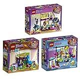 Lego Friends Freizeitpark 3er Set 41327 41328 41329 Mias Zimmer + Stephanies Zimmer + Olivias großes Zimmer