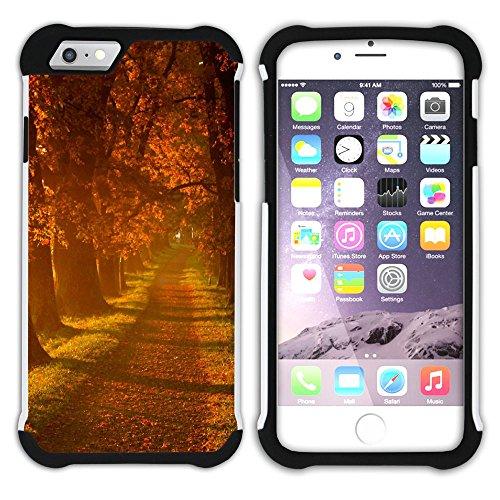 Graphic4You Herbst Leaves Bäume Postkarte Hart + Weiche Kratzfeste Hülle Case Schale Tasche Schutzhülle für Apple iPhone 6 Plus / 6S Plus Design #20