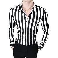 Peppyzone Men's Striped Cotton Slim Fit Full Sleeve Shirt