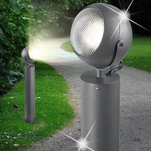 MIA Light Poller Leuchte ↥600mm/ Modern/Anthrazit/ Alu/AUSSEN Wege Lampe Aussenlampe Aussenleuchte Gartenlampe Gartenleuchte Pollerlampe Pollerleuchte Wegelampe Wegeleuchte - Poller-leuchten