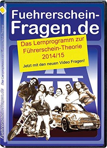 Fuehrerschein-Fragen.de 2014-15, 1 CD-ROM Das Lernprogramm zur Führerschein-Theorie. Jetzt mit neuen Video Fragen!