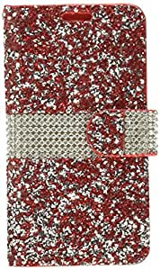 Asmyna Wallet Case for LG K7, LG K373 (Escape 3), LG L52VL (Treasure LTE), LG Tribute 5 - Red