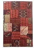 Pak Persian Rugs Handgeknüpfter Flicken Teppich, Mehrfarbig, Wolle, Medium, 155 X 243 cm