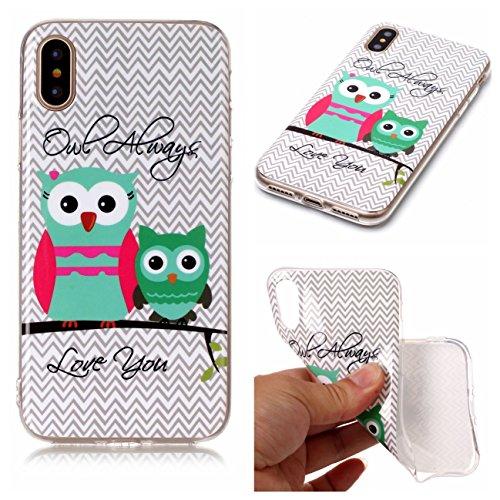 iPhone X Hülle, Voguecase Silikon Schutzhülle / Case / Cover / Hülle / TPU Gel Skin für Apple iPhone X(Armbanduhr) + Gratis Universal Eingabestift owl 20