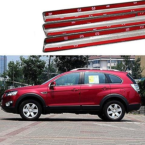 Eaglerich Acciaio Inox Car Styling completa finestra di taglio senza pilastri Centro Decorazione Strisce Accessori per Chevrolet Captiva