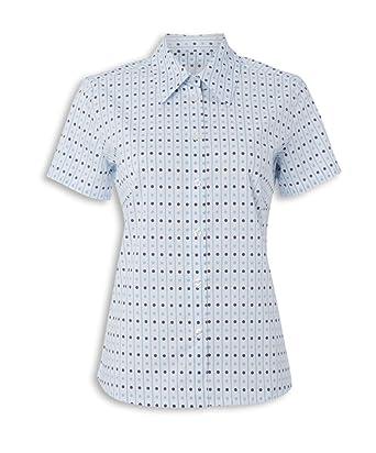 ce33b5e6a5ec4f Alexandra Workwear Womens Domino Print Blouse  Amazon.co.uk  Clothing