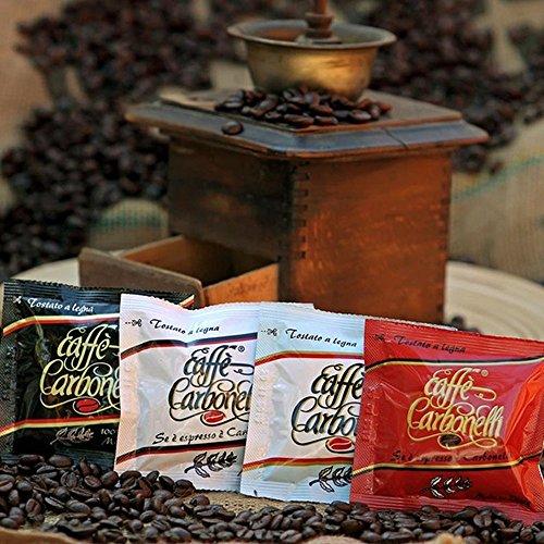 ESE Kaffee-Pads Packung mit 4 Geschmacksrichtungen - Espresso - Ristretto - 100 % Arabica - Decaf...