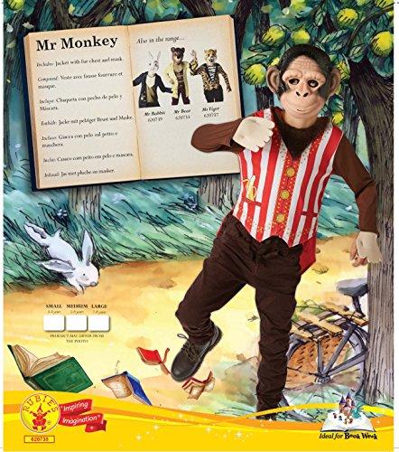 Imagen de oficial de rubie mr monkey fancy dress boys circo libro de cuentos de hadas semana día kids childs disfraz alternativa