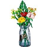 SENG Bouwstenen bloemenboeket bouwpakket, 600 delen custom creatieve planten bloemen bouwset compatibel met Lego 10280 boeket