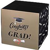 Amosfun Congrats Grad Card Box Graduation Card Holder Box Containers Paper Box for Graduation Party Supplies 2020