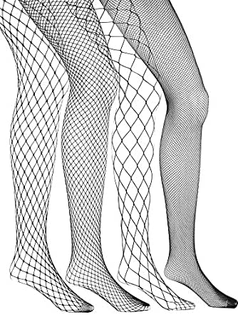 7f8f638977b Image Unavailable. Image not available for. Colour  4 Pairs Fishnets  Stockings Fishnet Tights Fishnet Pantyhose ...