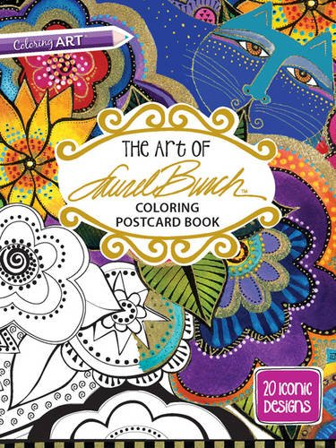 art-of-laurel-burch-coloring-postcard-book-colouring-postcard-books