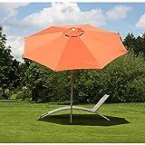 Mendler Sonnenschirm N19, Gartenschirm, Ø 3m neigbar Polyester/Alu 5kg ~ terracotta