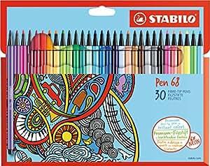 STABILO Pen 68 - Premium-Filzstifte - 30er Set