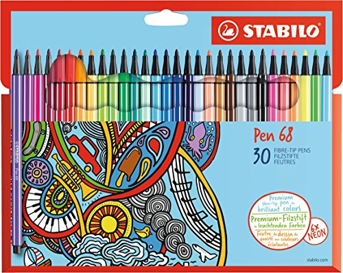 Premium Filzstift STABILO Pen 68 - 30er Pack
