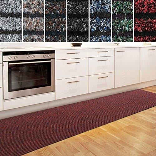 casa pura Küchenläufer Granada in großer Auswahl | strapazierfähiger Teppich Läufer für Küche Flur UVM. | Rutschfester Teppichläufer/Flurläufer für alle Böden (80x150 cm Rot)