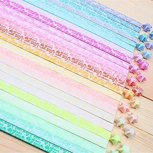 Papierstreifen,Guyin Origami Papier Sterne, Lucky Star Streifen,Origami Paper Stars, 20 Farben, 600 Streifen