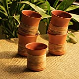 [Sponsored]ExclusiveLane 'Terra-Cane Kulhads' Handmade Studio Pottery Tea & Coffee Kulhads In Terracotta & Cane (Set Of 5) -Tea Cups Set Of 6 Coffee Mugs Serving Pieces Ceramic Cups Tea Set Kulhad Cups Set Chai Cups Tableware Coffee Cup Set Cups F