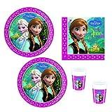 Disney Frozen Die Eiskönigin Partyset 52 tlg. Geschirr Kindergeburtstag Party Set