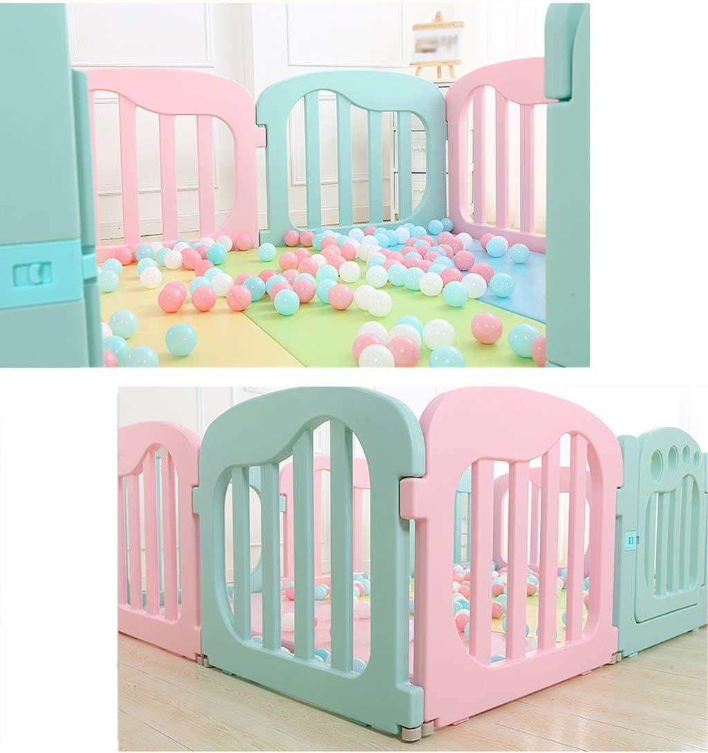 LFY 8-Panel Playpen with a Fitted Floor Mat, Baby Safe Play Yard Home Indoor Outdoor  LFY