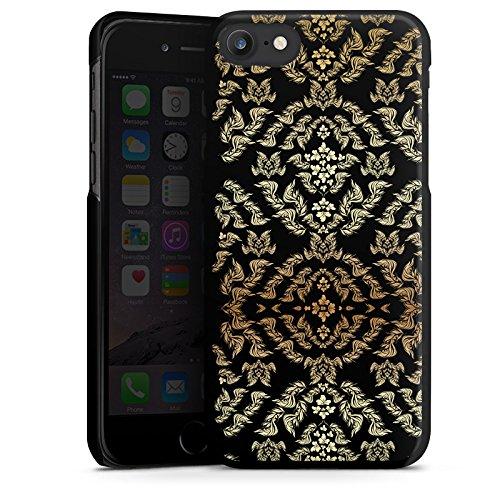 Apple iPhone X Silikon Hülle Case Schutzhülle Ornamente Muster Blumen Hard Case schwarz