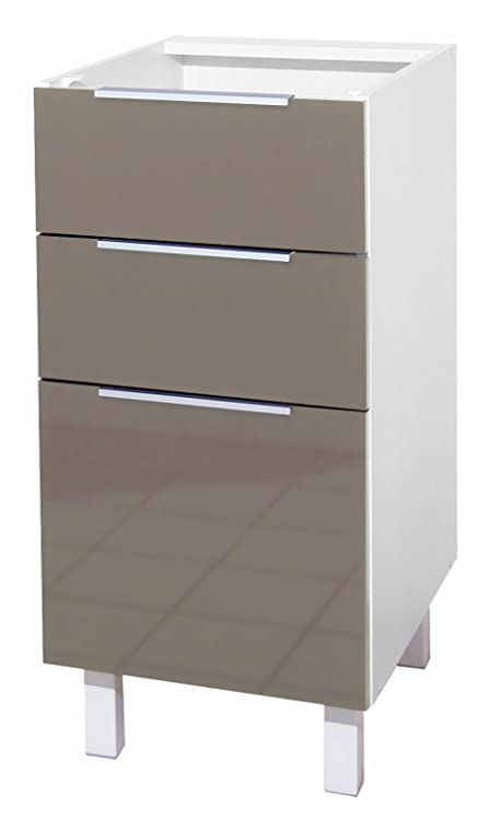 Berlenus CT4BT - Mobile basso da cucina con 3 cassetti, 40 x 52 x ...