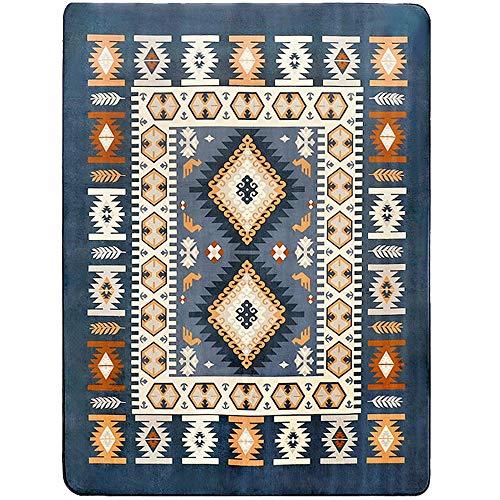 Rug Teppich Rechteck Wohnzimmer Bett vorne Blau Maschinenwaschbarer Teppich Einfache und Moderne Matten Rutschfest (Farbe : Bunte, größe : 130 * 190cm)