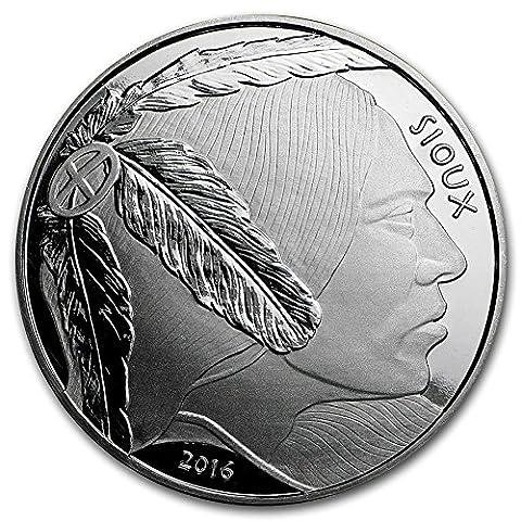 American Sioux Indian 1oz Silver Dollar