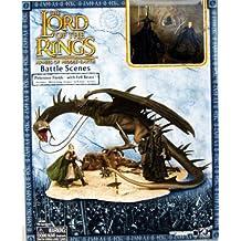 De el Señor de los anillos–Batalla escenas–campos de Pelennor con Fell Bestia + enigmáticas + Eowyn de Rohan Armor–Play Along