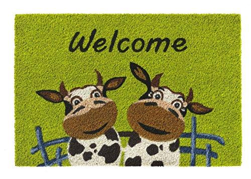 ollection Fussmatte - Fußmatte - Türfußmatte - Fußabstreifer - Fußabtreter - Türmatte - Motivfußmatte - Fußmatte - Kokos - Kokosfussmatte - Kuh - Kühe - Welcome ()
