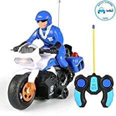 FunBlast RC Police Patrol Motorcycle Remote Control Motor Bike for Kids, Multicolor