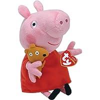 TY 7146128 - Peppa Baby - Schwein mit rotem Kleid und Bär, 15 cm