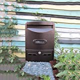 QAR Mailbox Regendicht Wasserdicht Im Freien Mailbox General Manager Vorschlag Box Outdoor Europäischen Wand Hängen Nachricht Box Mit Schloss Briefkasten