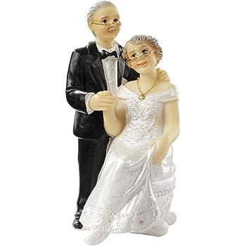 Silberne Hochzeit Tortendekoration Tortenfigur Tischdekoration