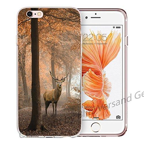 Blitz® NEW YORK motifs housse de protection transparent TPE caricature bande iPhone Aigle volant M6 iPhone 8sPLUS Cerf sur la forêt M9