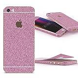 Urcover Glitzer-Folie zum Aufkleben | Apple iPhone SE/5/5s | Folie in Pink | Zubehör Glitzerhülle Handyskin Diamond Funkeln Schutzfolie Handy-schutz Luxus Bling Glamourös