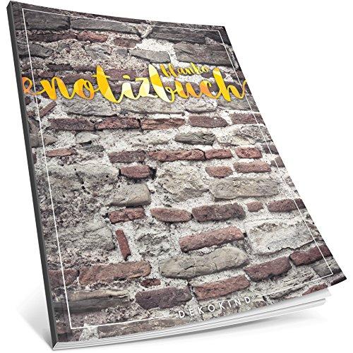 Dékokind® Blanko Notizbuch: Ca. A4-Format • 100 Seiten mit Inhaltsverzeichnis • Perfekt als Zeichenbuch, Skizzenbuch oder Tagebuch • ArtNr. 15 Backstein • Softcover