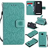 Huawei Mate 10 Lite Case, Huawei Mate 10 Lite Phone Case - Cozy Hut For Huawei Mate 10 Lite Flip Wallet Case,Premium Datura flowers Pattern PU Leather Wallet Case Cover Pouch [Magnetic Closure] with Card Slots ,Kickstand,Credit Card Holder,Book Style Flip Wallet for For Huawei Mate 10 Lite